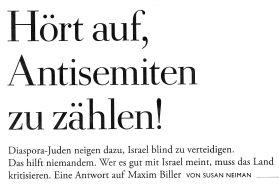 Antisemiten zählen Neiman