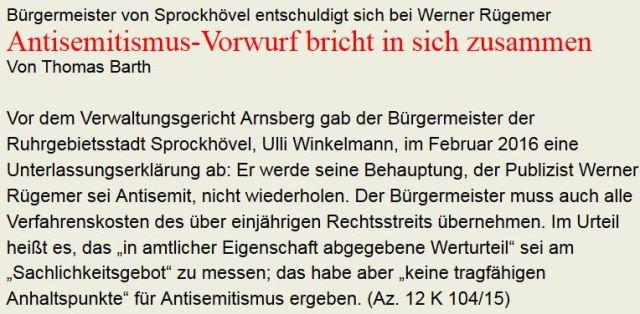 Antisemitismus-Vorwurf sanktioniert