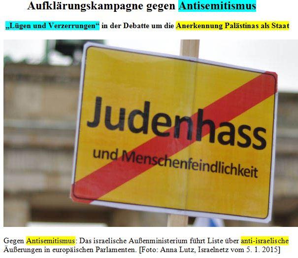 Antizionismus = Antisemitismus Lieberman