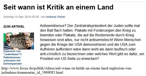 AS seit ist Kritik an Israel as