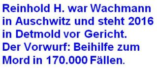 Auschwitz Wachmann Reinhold