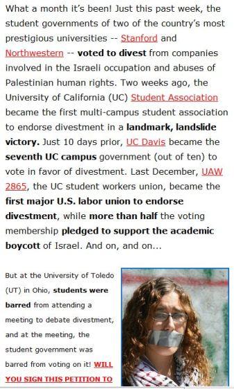 Boykott US Universities