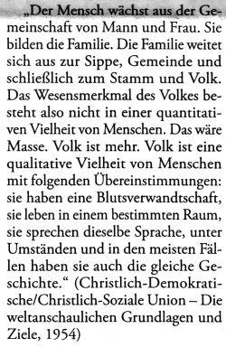CDU Volk völkisch
