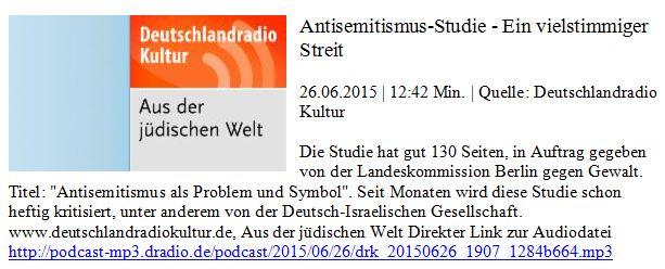 DLF zu ZfA Antisemitismusstudie Berlin