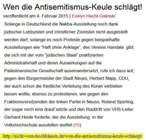 Hecht - Galinski zionistische Lobbyarbeit