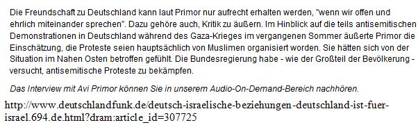 Israel - Deutschland - Primor1