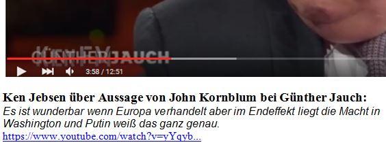 Kornblum Aussage Ohnmacht Europas