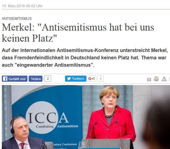 Merkel Antisemitismuskonferenz Berlin