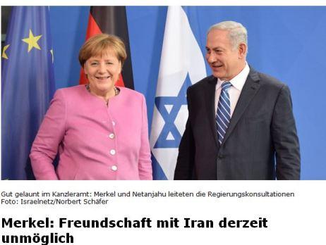 Merkel Freundschaft mit Iran nicht möglich