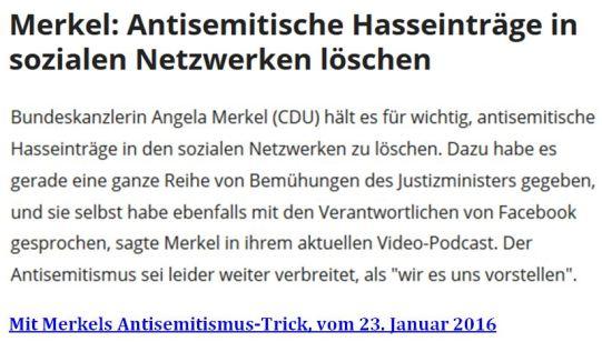 Merkel Zensur