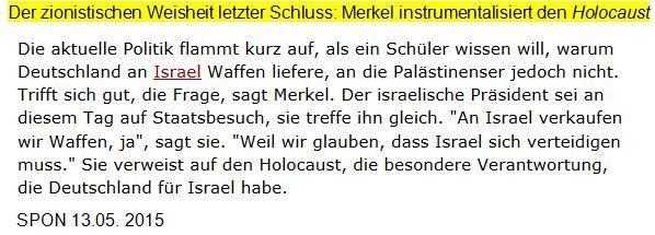 Merkel zu Israel