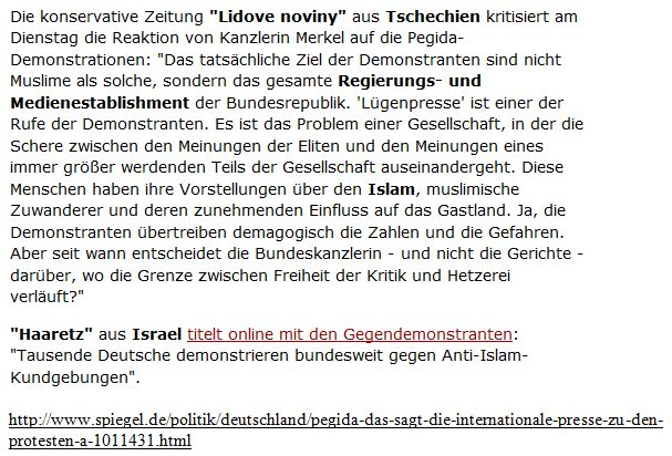 PEGIDA-Kritik an Merkel