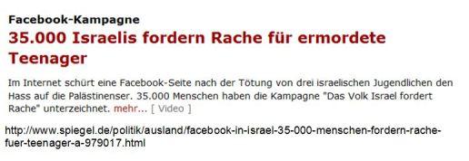 Rache fordern Juden