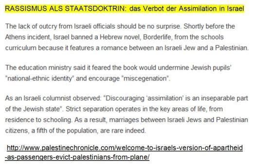 Rassismus als Staatsdoktrin Israel