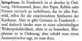 Spiegelman Blasphemie