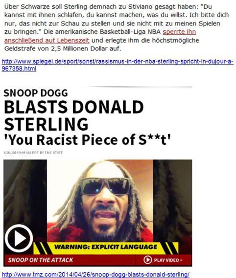Sterling Rassismus