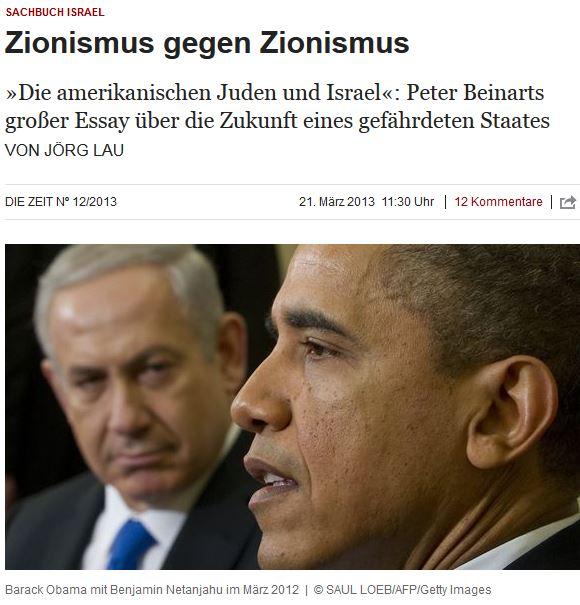 Zionismus Obama und Netanjahu