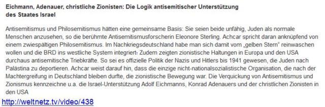 Zionisten = Antisemiten