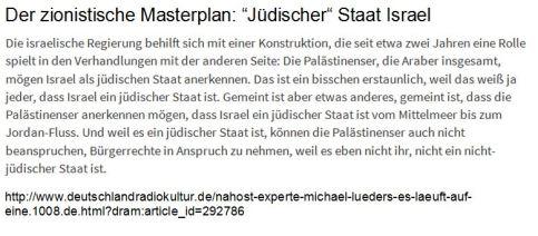 Zionistische Masterplan