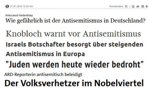 Alarmismus vom Holocaustgedenktag