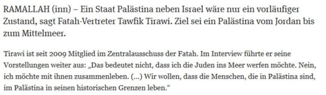 Einstaatenlösung palästinensisch Fatah
