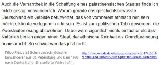 Einstaatenlösung Zionistische Denke
