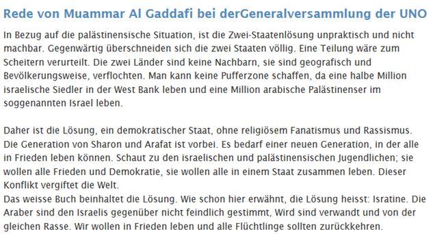 Gaddafi-Rede