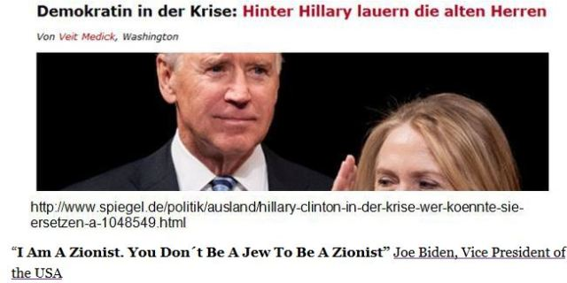 Joe Biden Zinist alter Herr