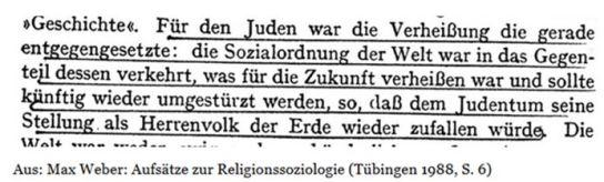 Max Weber Herrenvolk