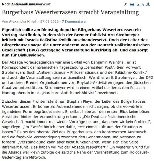 Weserkurier Strohmeyer