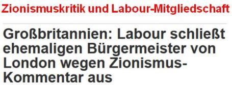 Zionismuskritik und Labour-Mitgliedschaft