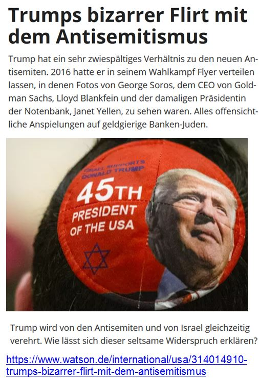 Evangelikale Antisemiten Trump