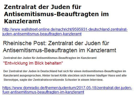 Antisemitismus-Beauftragter im Kanzleramt