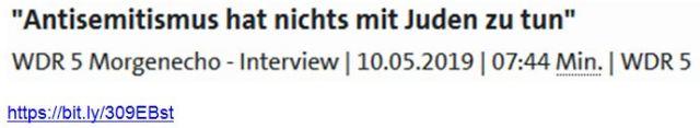 Antisemitismus hat nichts mit Juden zu tun Lustiger WDR5