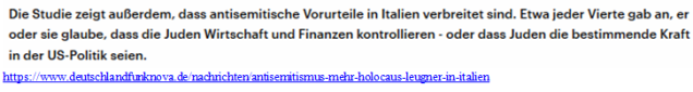 Antisemitismus Italien
