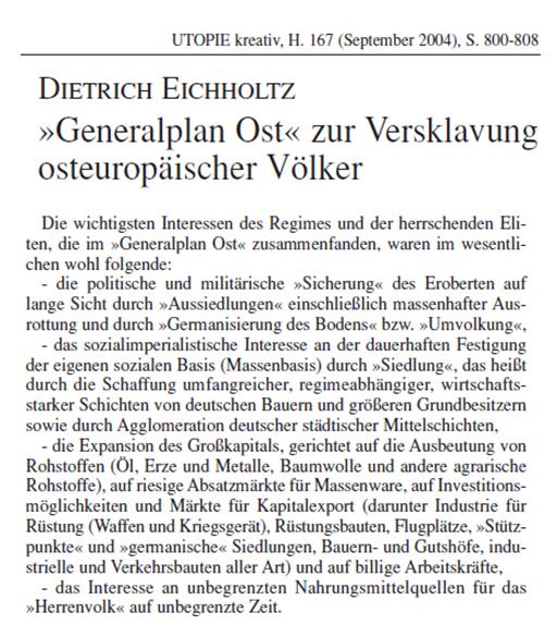 GPO Generalplan Ost