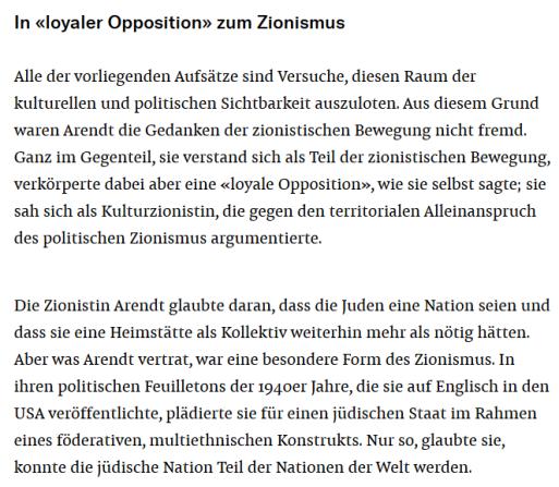 Hannah Arendt Zionismus