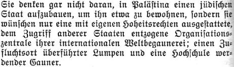 Hitler Judenstaat Heimstatte begaunern