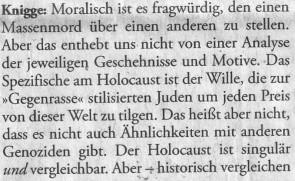 Holocaust singulär Knigge DZ 210701