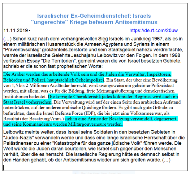IDF Besatzungsarmee wie Nazis