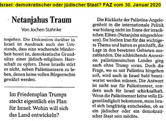 Israel demokratischer oder jüdischer Staat