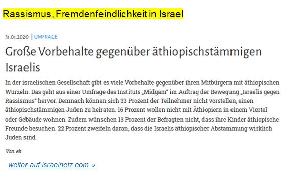 Israel Rassismus Fremdenfeindlichkeit