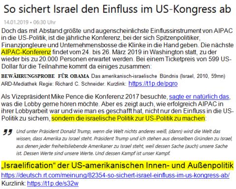 Israelification Bewährungsprobe sehr wichtig