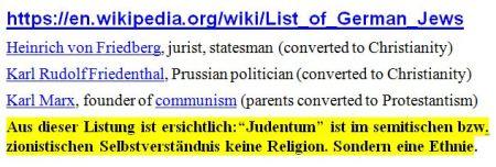 List of German Jews Marx
