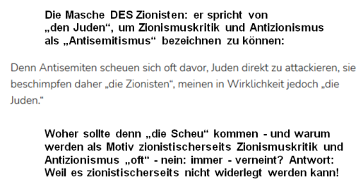 Masche DES Zionisten