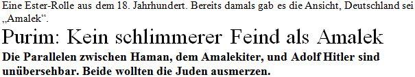 Amalek = Deutsche