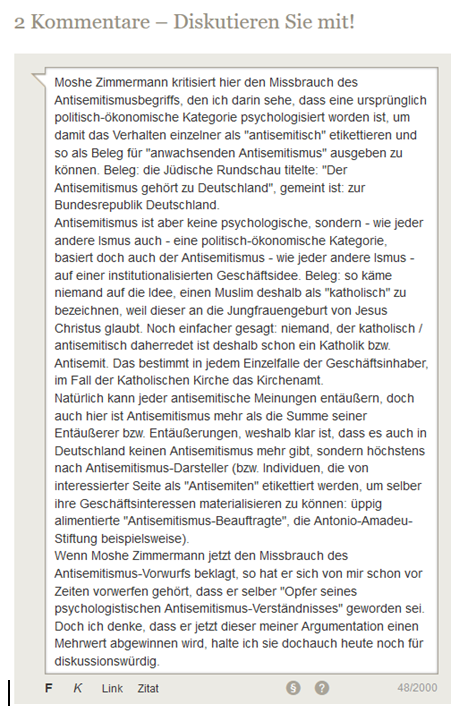 Antisemitismus-Definition Tagesspiegel