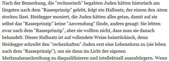 Heidegger über Juden