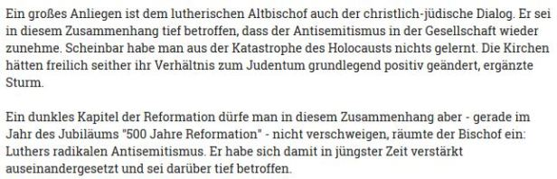Luther Antisemitismus Bischof