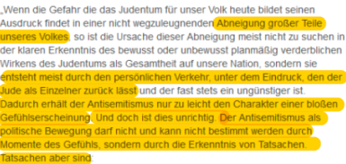 Hitler Antisemitismus der Deutschen ist unbrauchbar